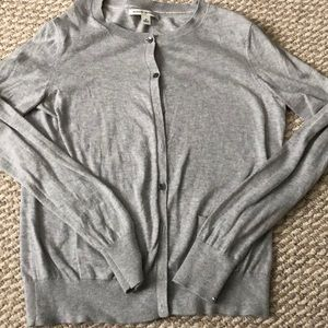 Banana Republic gray cashmere blend cardigan (M)